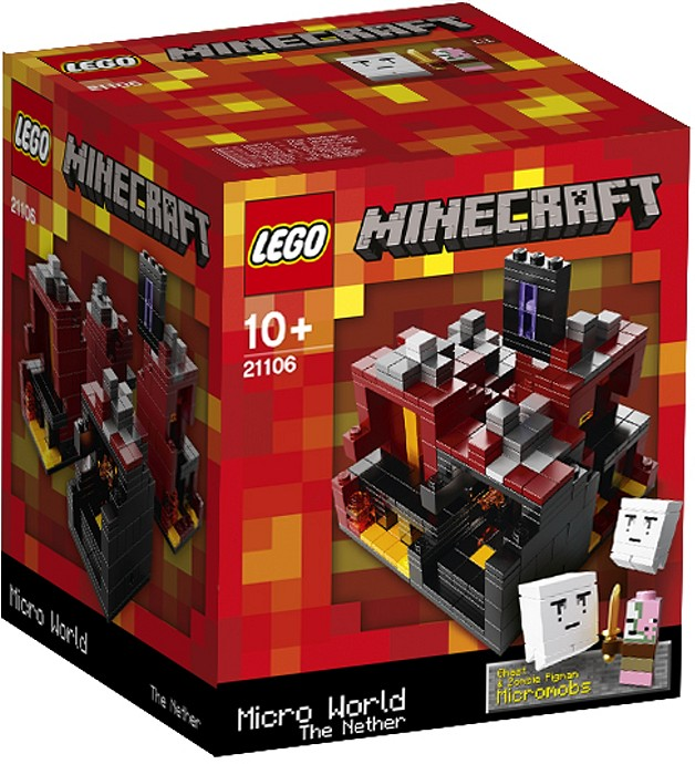 LEGO Minecraft Sets: 21106 Minecraft Micro World: The Nether NEW *Damaged Box*