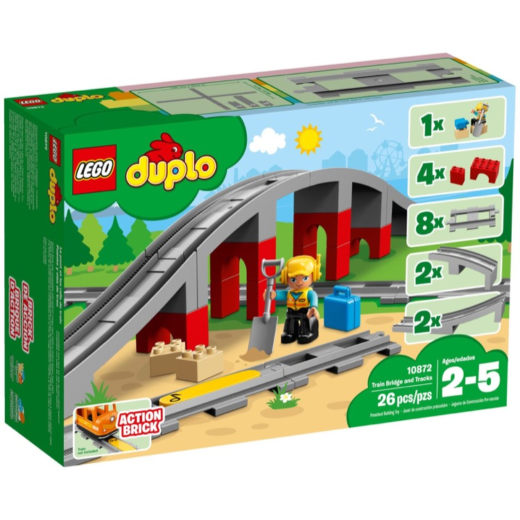 LEGO DUPLO Sets: 10872 Train Bridge and Tracks NEW