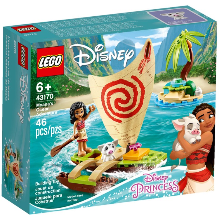 LEGO Disney Princess Sets: 43170 Moana's Ocean Adventure NEW