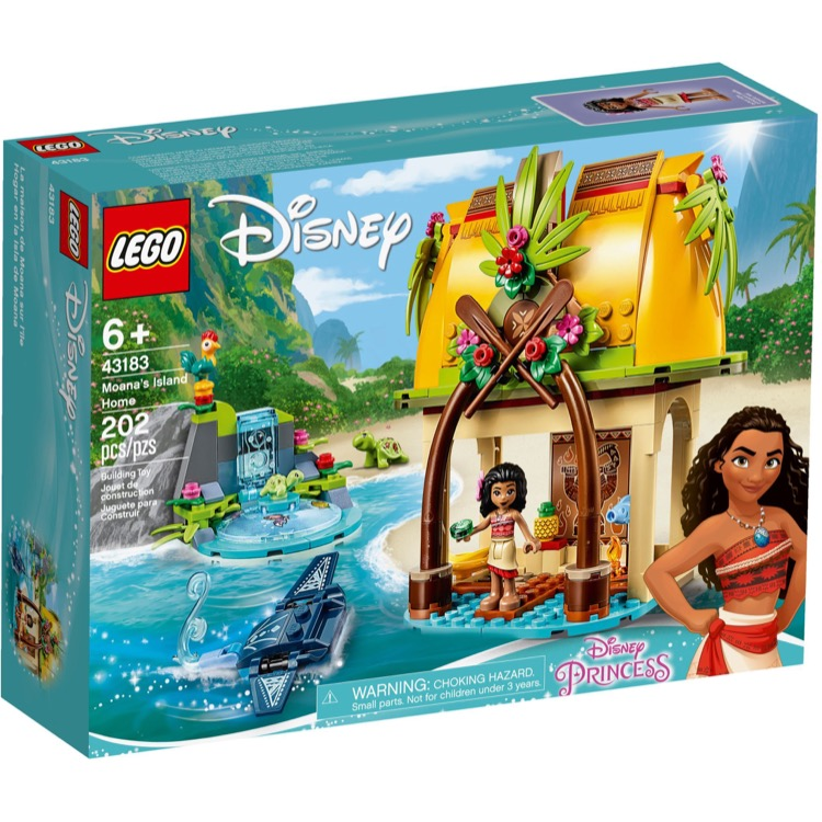 LEGO Disney Princess Sets: 43183 Moana's Island Home NEW