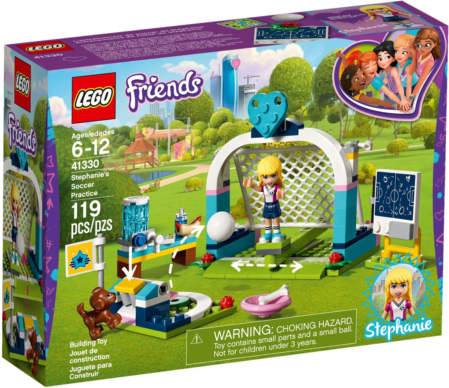 LEGO Friends Sets: 41330 Stephanie's Soccer Practice NEW *Damaged Box*
