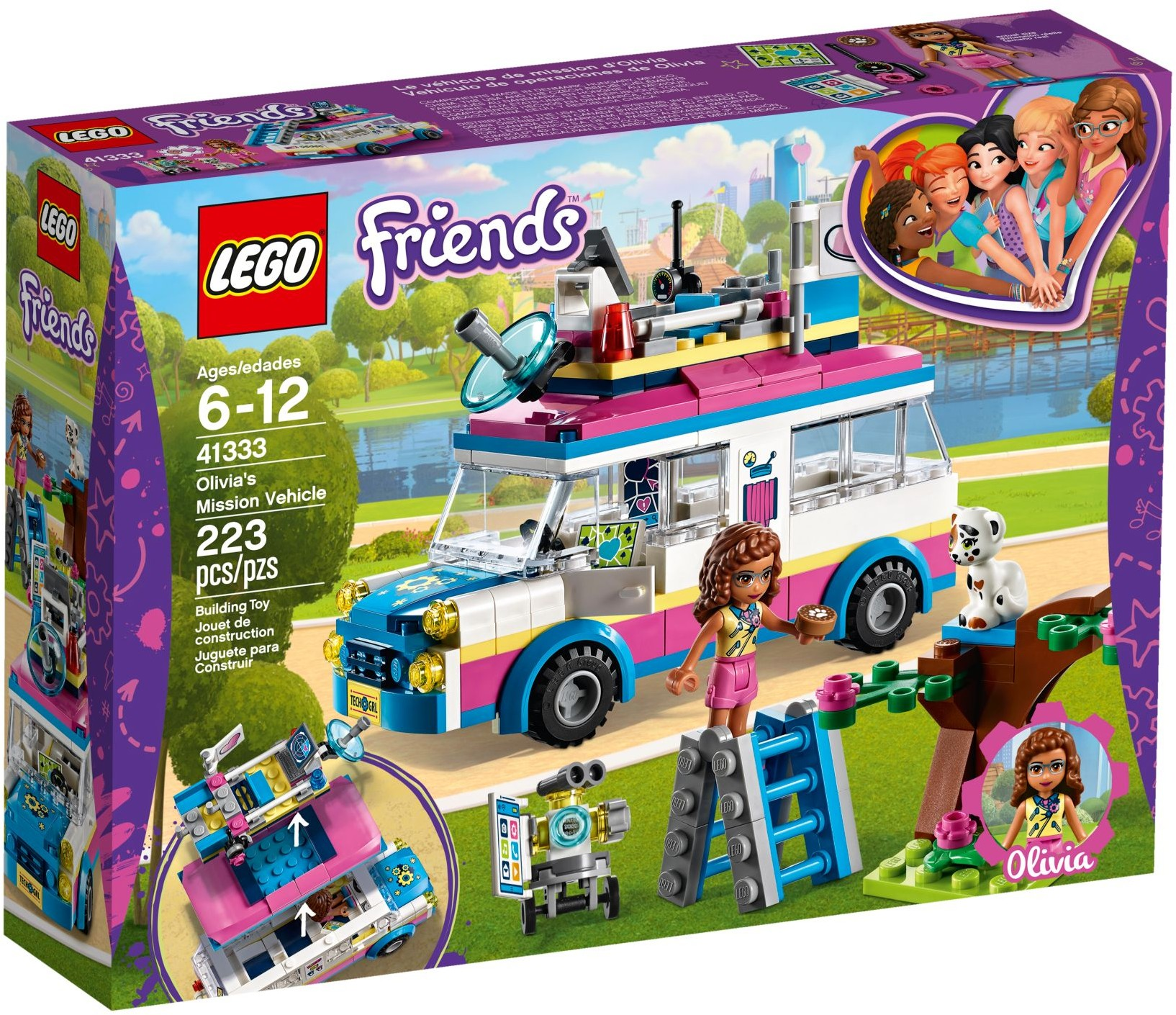 LEGO Friends Sets: 41333 Olivia's Mission Vehicle NEW