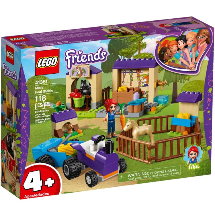 LEGO Friends Sets: 41361 Mia's Foal Stable  NEW