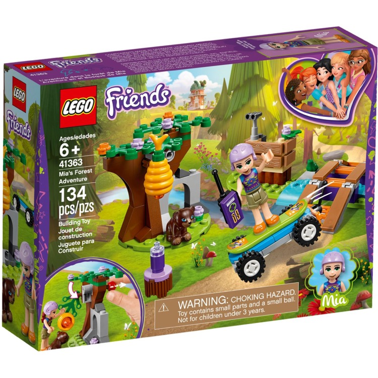 LEGO Friends Sets: 41363 Mia's Forest Adventures  NEW