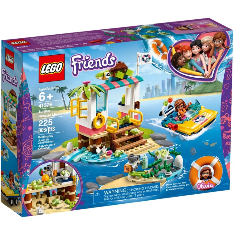 LEGO Friends Sets: 41376 Turtles Rescue Mission NEW