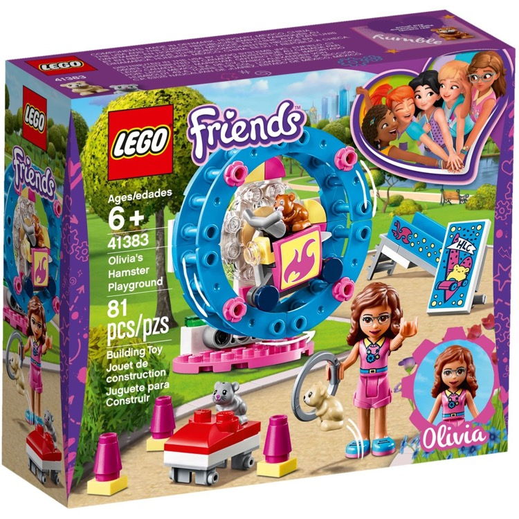 LEGO Friends Sets: 41383 Olivia's Hamster Playground NEW