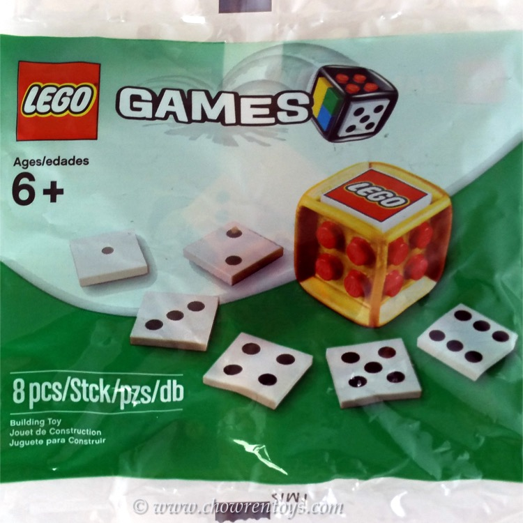 LEGO Games Sets: 4648939 Promotional Gold Dice NEW