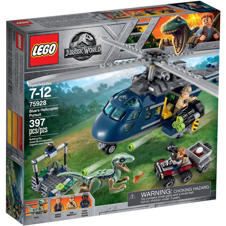 LEGO Jurassic World Sets: 75928 Blue's Helicopter Pursuit NEW