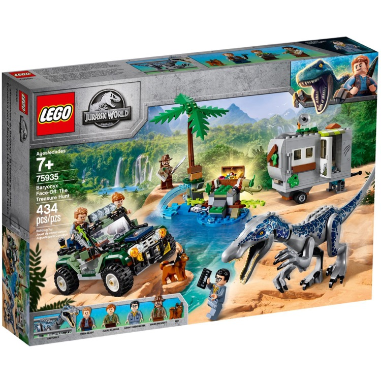 LEGO Jurassic World Sets: 75935 Baryonyx Face-Off: The Treasure Hunt NEW