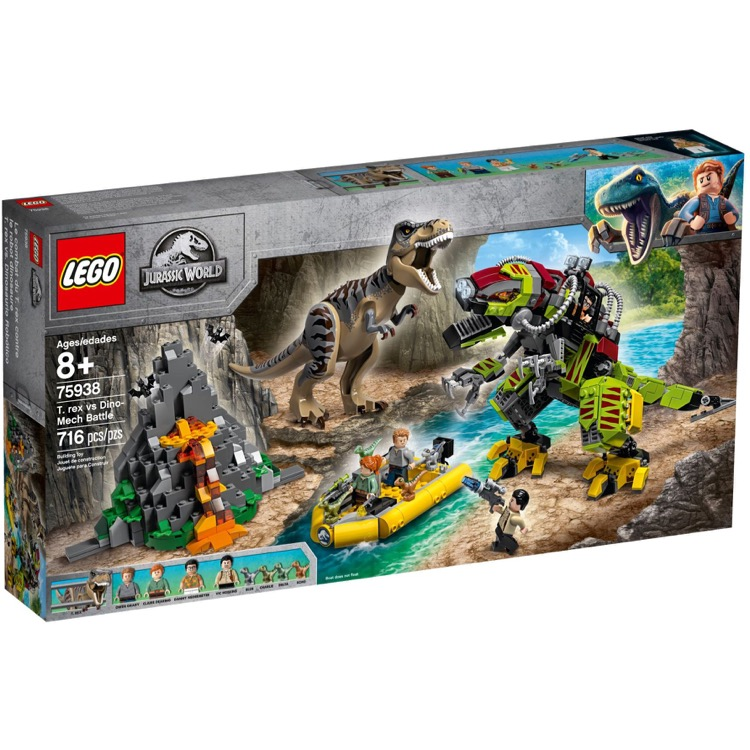 LEGO Jurassic World Sets: 75938 T. rex vs Dino-Mech Battle NEW