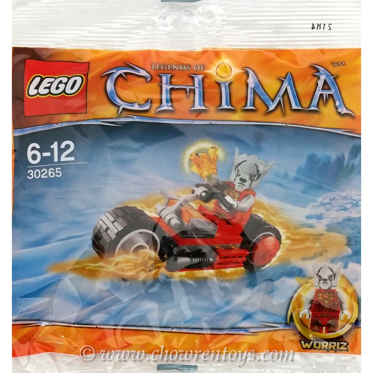 LEGO Legends of Chima Sets: 30265 Worriz' Fire Bike NEW