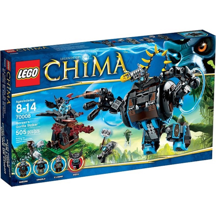 LEGO Legends of Chima Sets: 70008 Gorzan's Gorilla Striker NEW