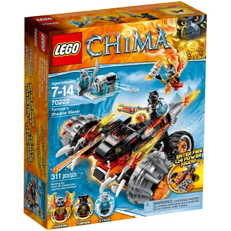 LEGO Legends of Chima Sets: 70222 Tormak's Shadow Blazer NEW