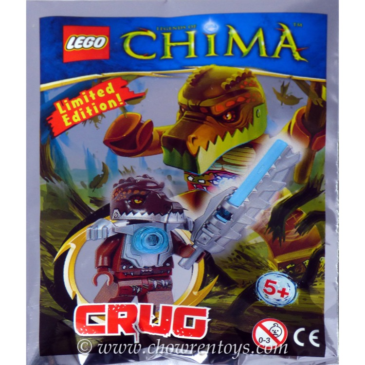 LEGO Legends of Chima Sets: LOC391406 Crug Minifigure with Armour and Sword NEW