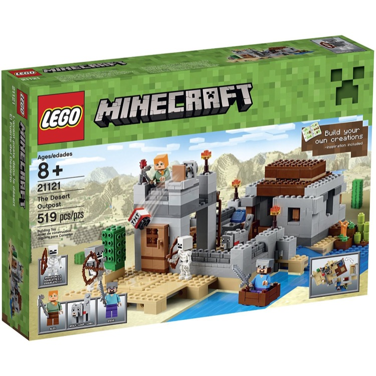 LEGO Minecraft Sets: 21121 The Desert Outpost NEW