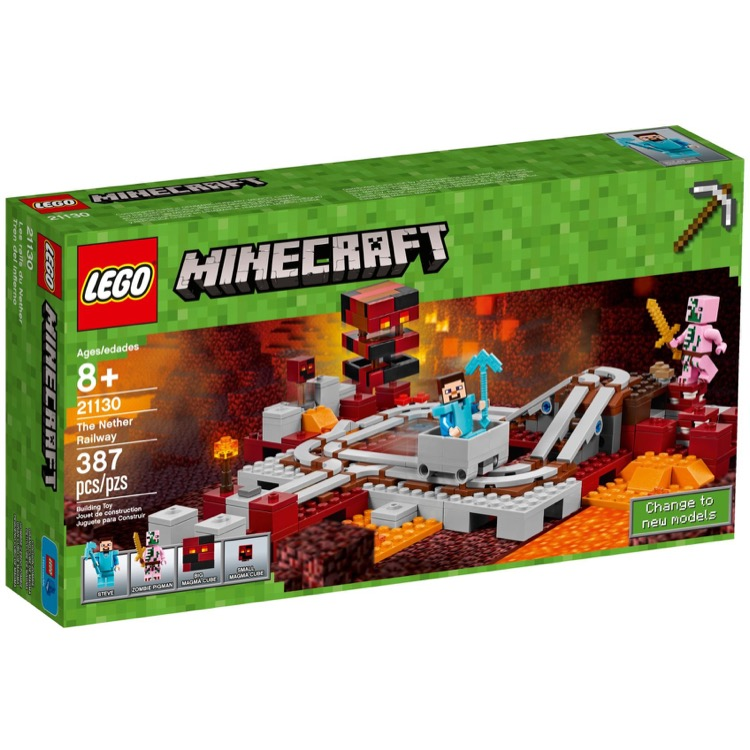 LEGO Minecraft Sets: 21130 The Nether Railway NEW