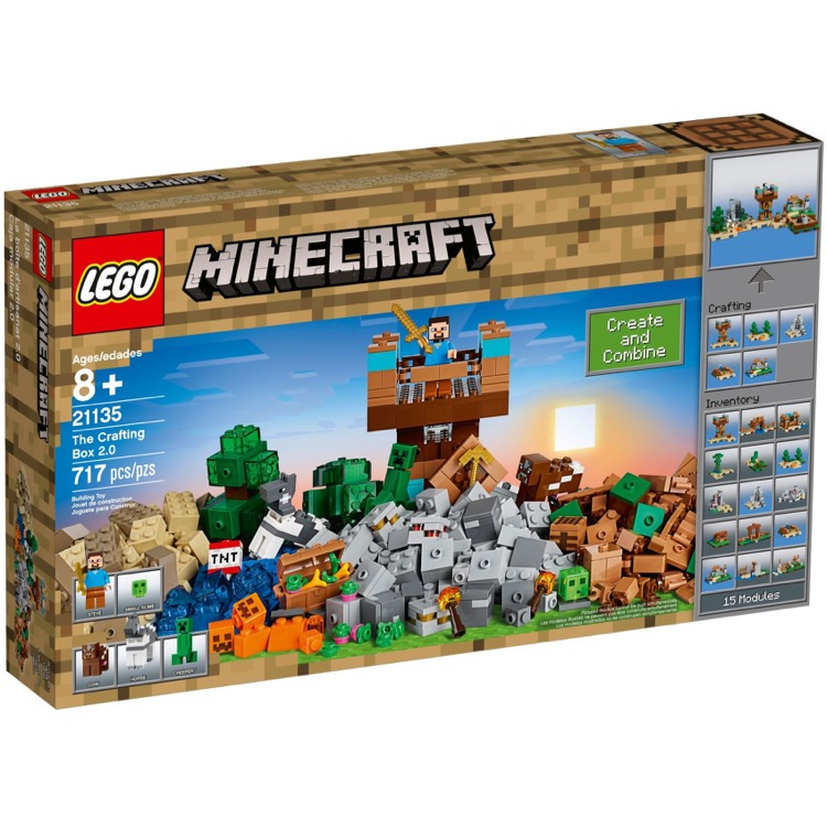 LEGO Minecraft Sets: 21135 The Crafting Box 2.0 NEW