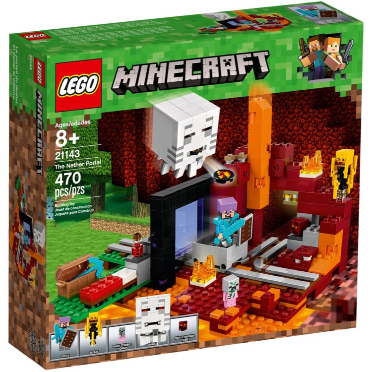 LEGO Minecraft Sets: 21143 The Nether Portal NEW