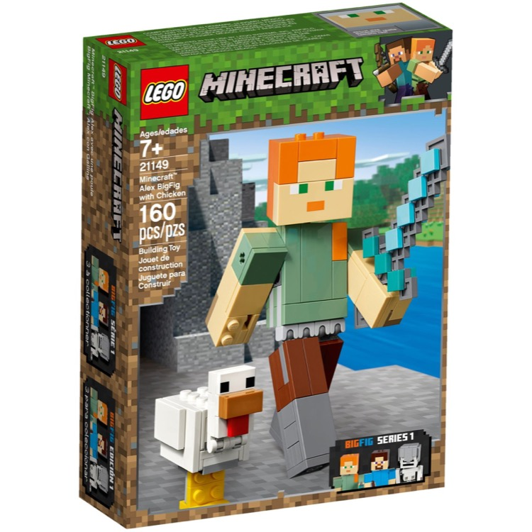 LEGO Minecraft Sets: 21149 Minecraft Alex BigFig with Chicken NEW
