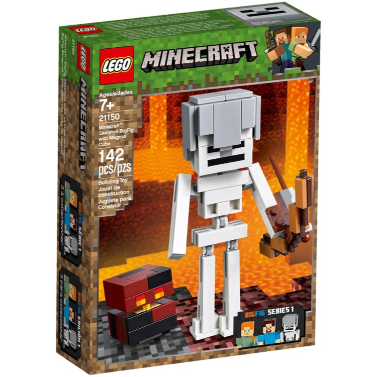 LEGO Minecraft Sets: 21150 Minecraft Skeleton BigFig with Magma Cube NEW