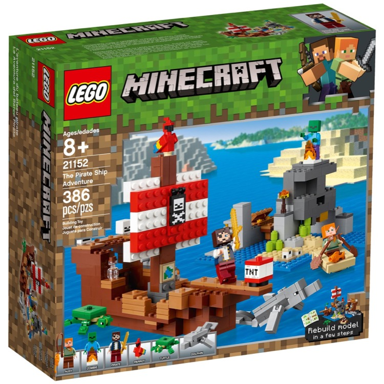 LEGO Minecraft Sets: 21152 Pirate Ship NEW