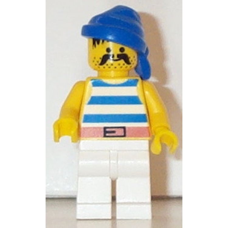 LEGO Minifigure: LEGO Pirates I Shipmate with Blue Striped Shirt (PI019) NEW