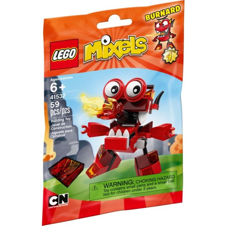 LEGO Mixels Sets: 41532 Series 4 Burnard NEW