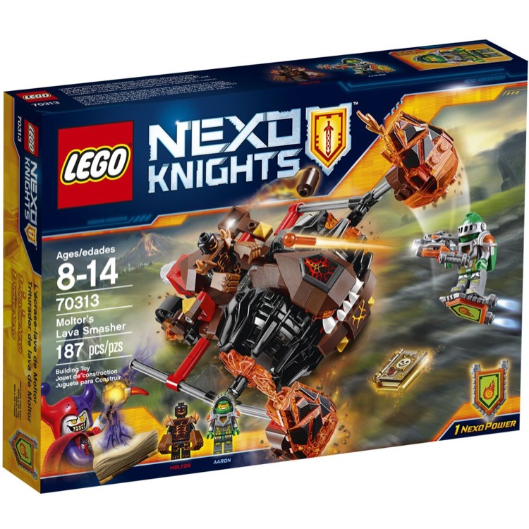 LEGO Nexo Knights Sets: 70313 Moltor's Lava Smasher NEW