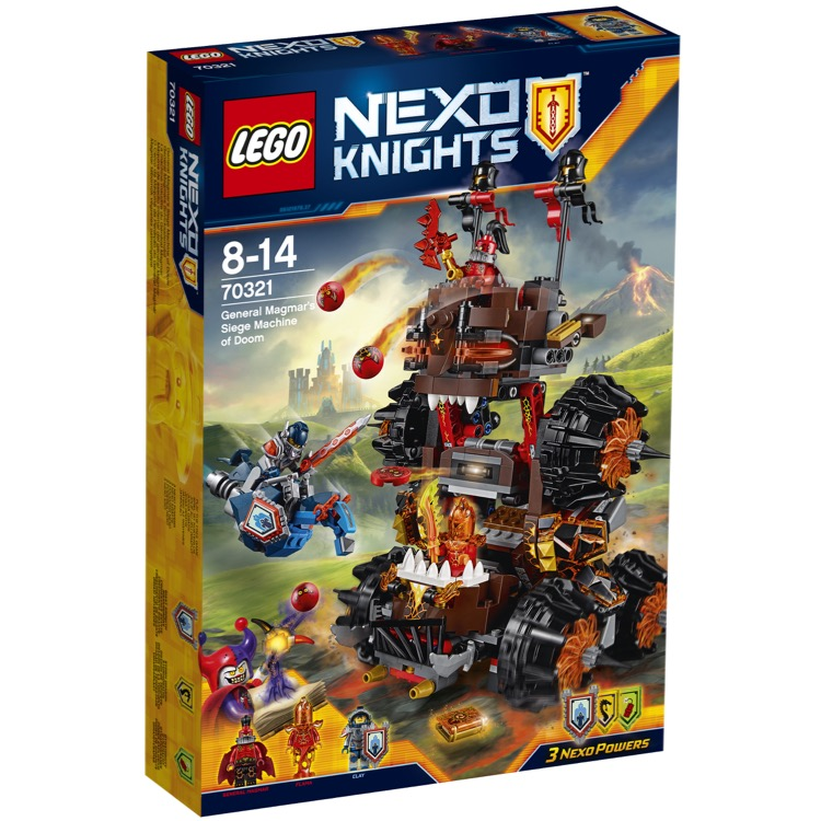 LEGO Nexo Knights Sets: 70321 General Magmar's Siege Machine of Doom NEW