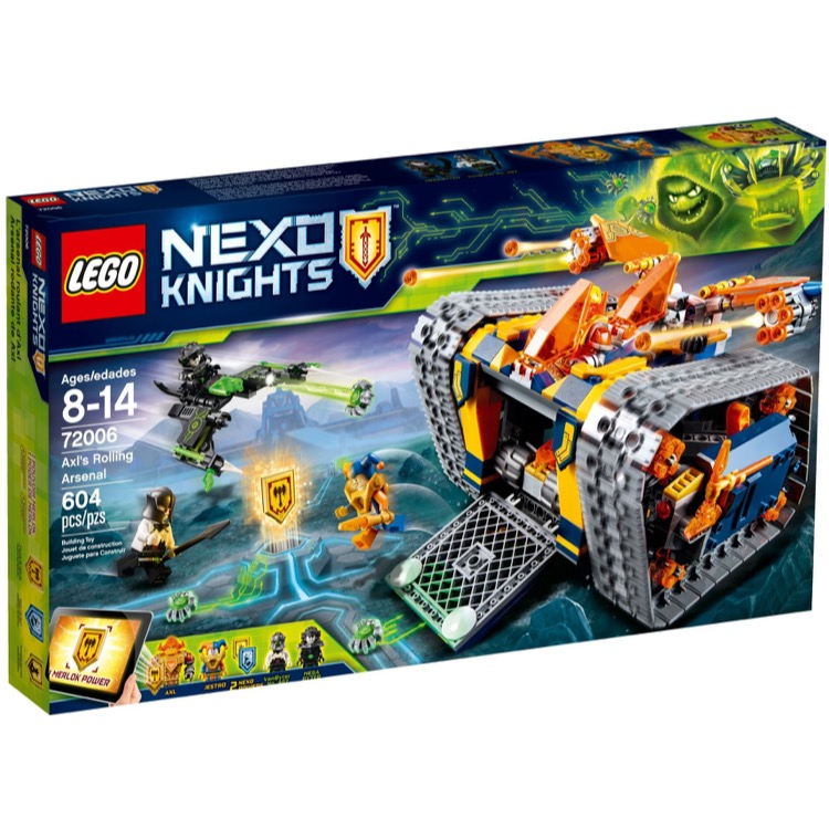 LEGO Nexo Knights Sets: 72006 Axl's Rolling Arsenal NEW *Rough Shape*