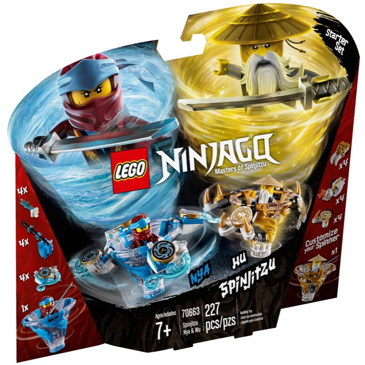 LEGO Ninjago Sets: 70663 Spinjitzu Nya & Wu NEW