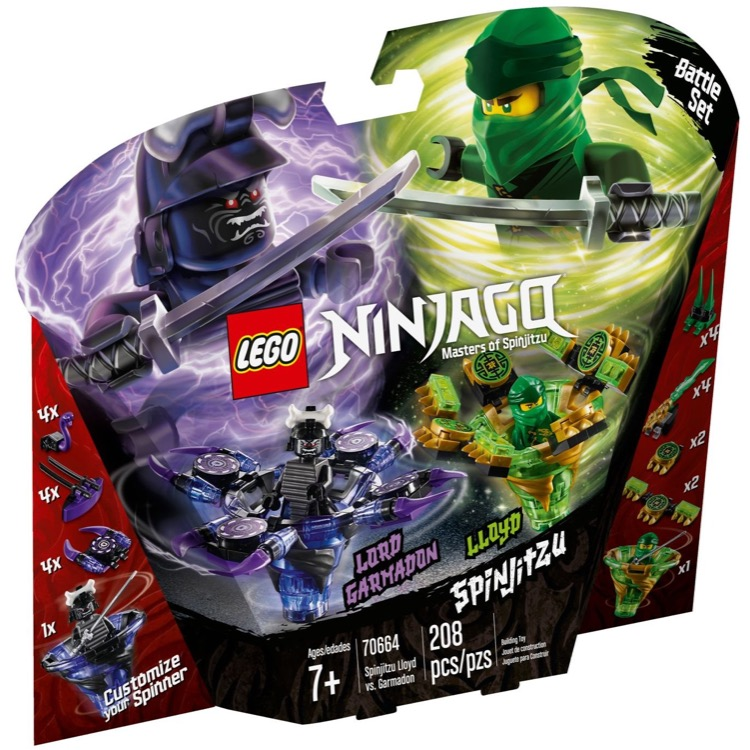 LEGO Ninjago Sets: 70664 Spinjitzu Lloyd vs. Garmadon NEW