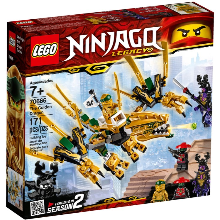 LEGO Ninjago Sets: 70666 The Golden Dragon NEW