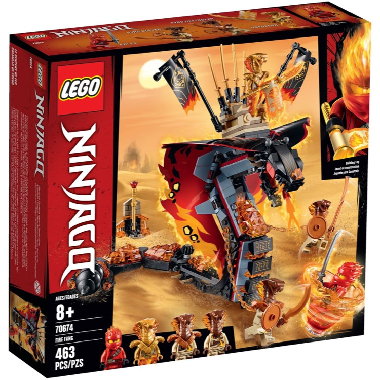 LEGO Ninjago Sets: 70674 Fire Fang NEW