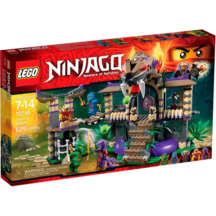 LEGO Ninjago Sets: 70749 Enter the Serpent NEW *Damaged Box*