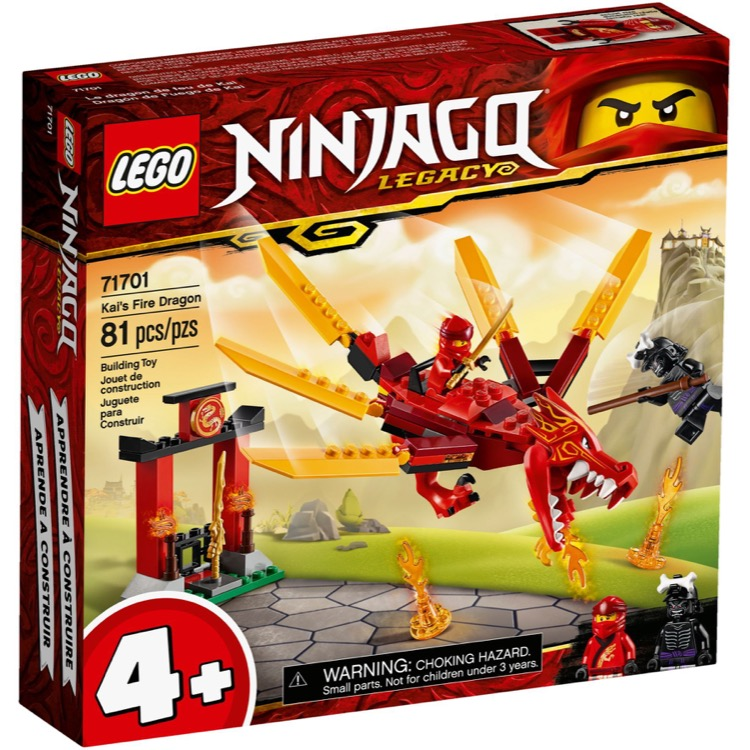 LEGO Ninjago Sets: 71701 Kai's Fire Dragon NEW