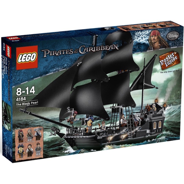 LEGO Pirates of the Caribbean Sets: 4184 The Black Pearl NEW