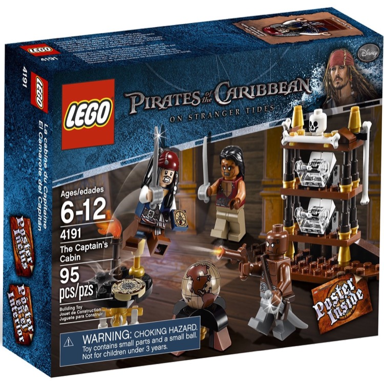 LEGO Pirates of the Caribbean Sets: 4191 Captain's Cabin NEW