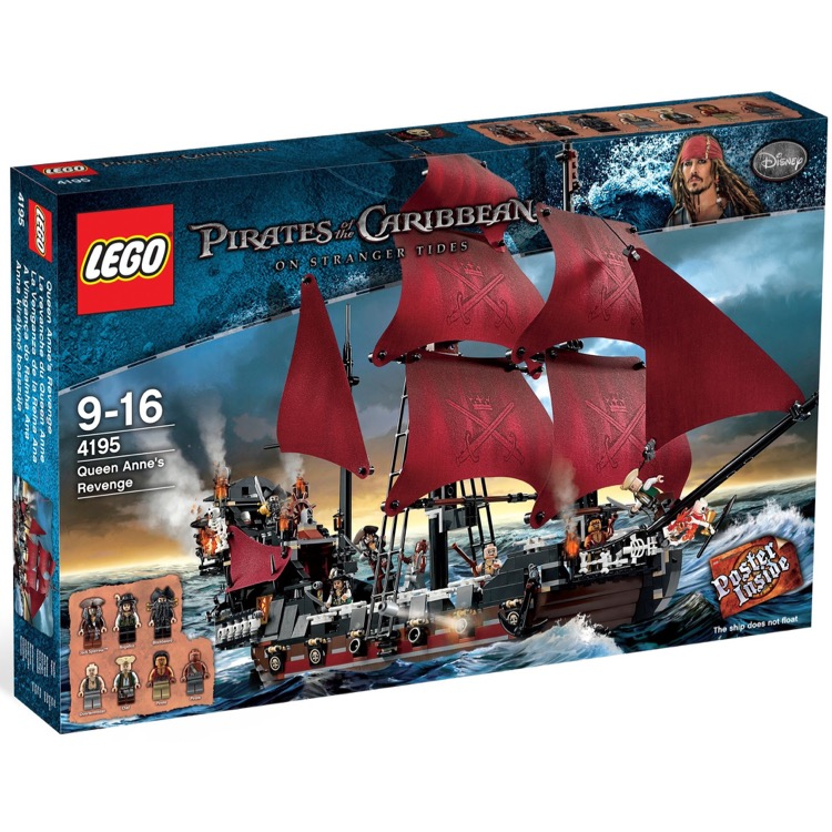 LEGO Pirates of the Caribbean Sets: 4195 Queen Anne's Revenge NEW