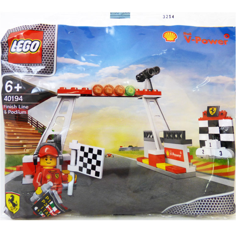 LEGO Racers Sets: Ferrari 40194 Finish Line & Podium NEW