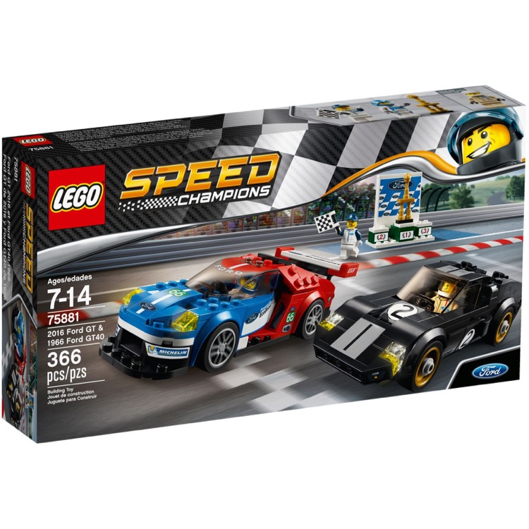 LEGO Speed Champions Sets: 75881 2016 Ford GT & 1966 Ford GT40 NEW