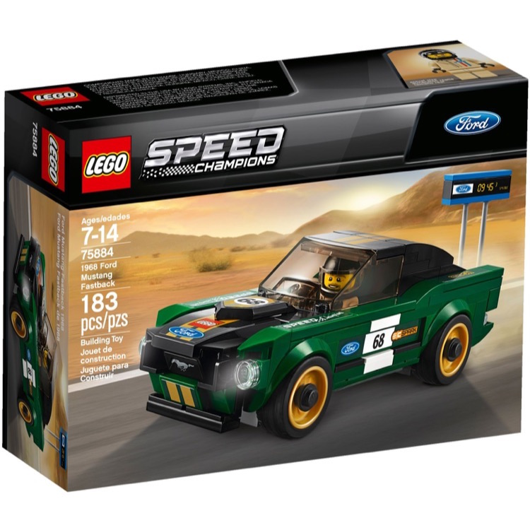 LEGO Speed Champions Sets: 75884 1968 Ford Mustang Fastback NEW