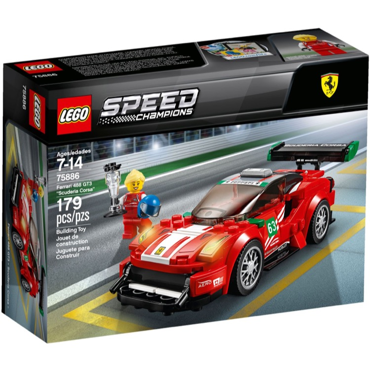 LEGO Speed Champions Sets: 75886 Ferrari 488 GT3 Scuderia Corsa NEW