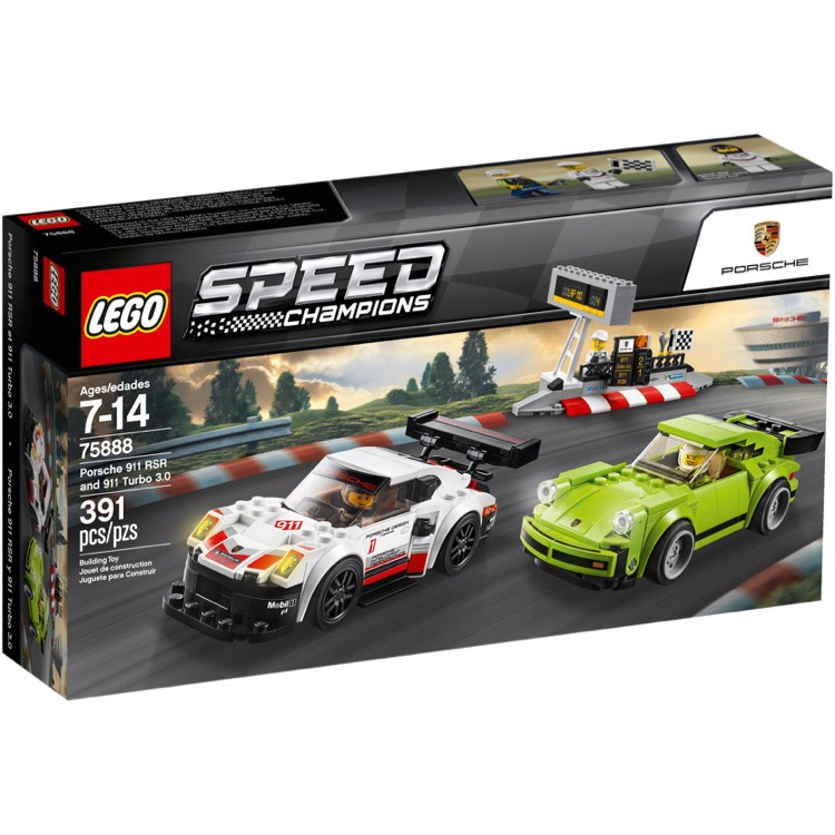 LEGO Speed Champions Sets: 75888 Porsche 911 RSR and 911 Turbo 3.0 NEW