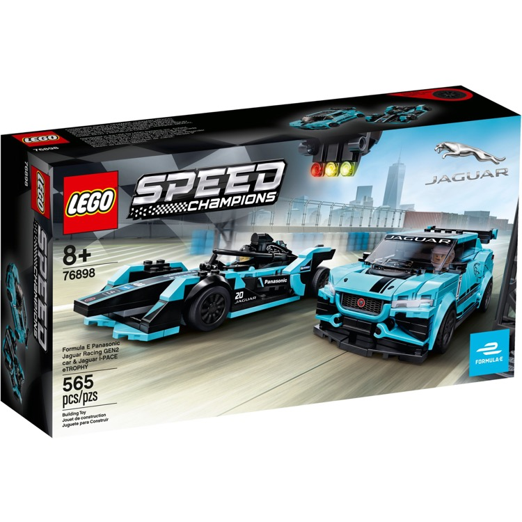 LEGO Speed Champions Sets: 76898 Formula E Panasonic Jaguar Racing GEN2 car & Jaguar I-PACE eTROPHY NEW