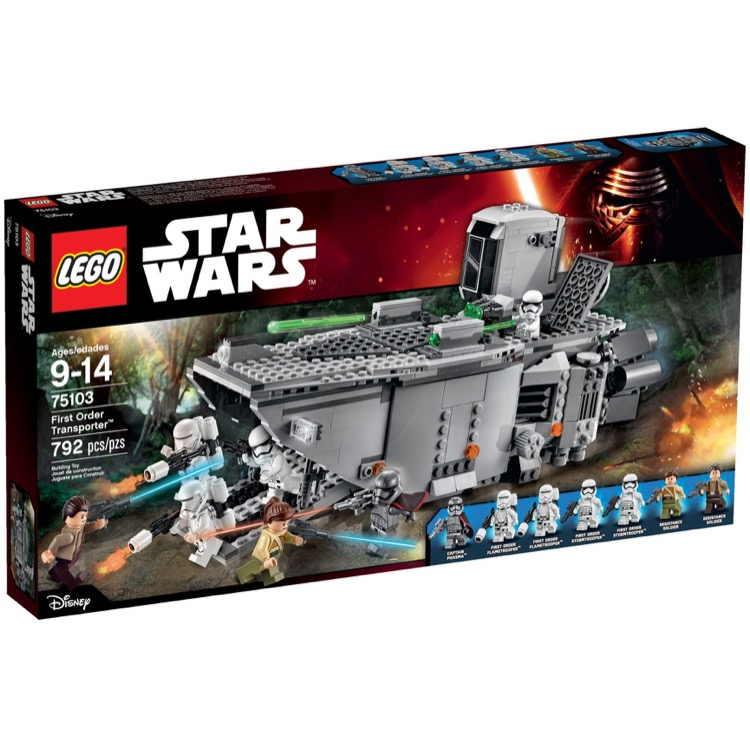 LEGO Star Wars Sets: 75103 First Order Transporter NEW *Damaged Box*