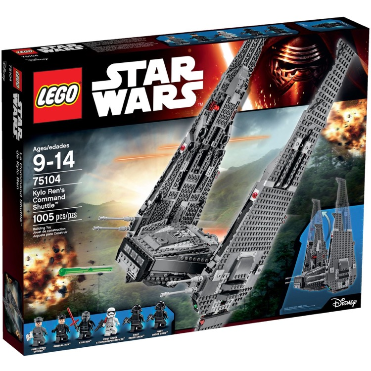 LEGO Star Wars Sets: 75104 Kylo Ren's Command Shuttle NEW *Damaged Box*