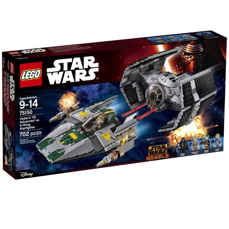 LEGO Star Wars Sets: 75150 Darth Vader's TIE Advanced and A-Wing Fighter NEW