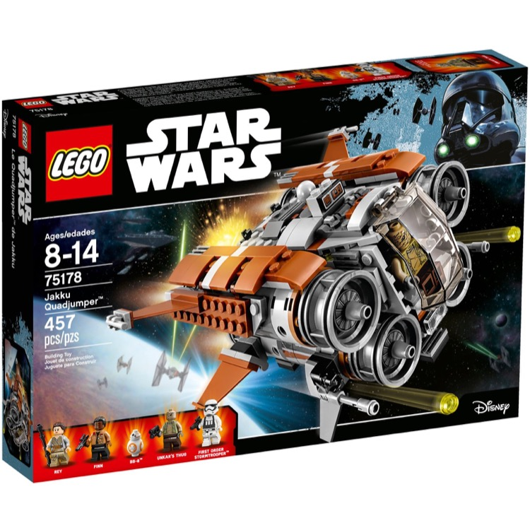 LEGO Star Wars Sets: 75178 Jakku Quadjumper NEW