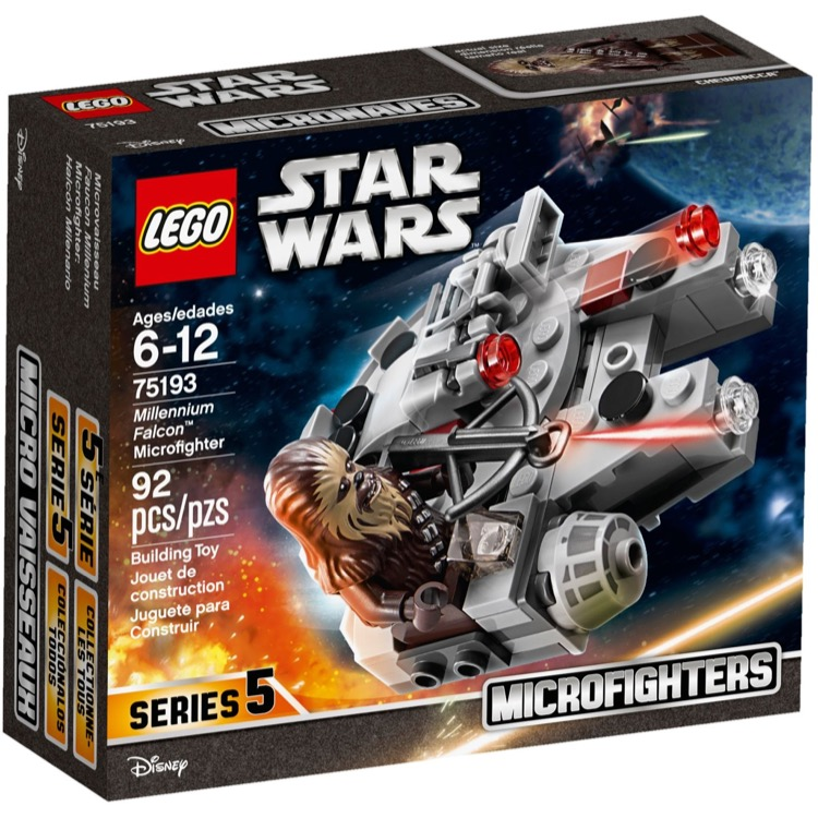 LEGO Star Wars Sets: 75193 Millennium Falcon Microfighter NEW *Rough Shape*